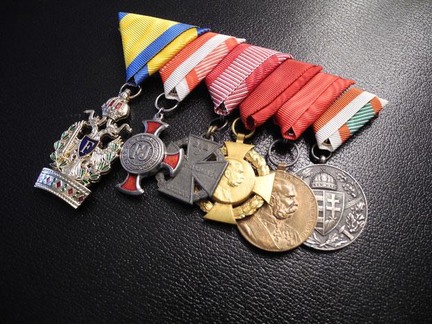 Ordensspange Ordensschnalle Österreich-Ungarn Orden der Eisernen Krone Replik