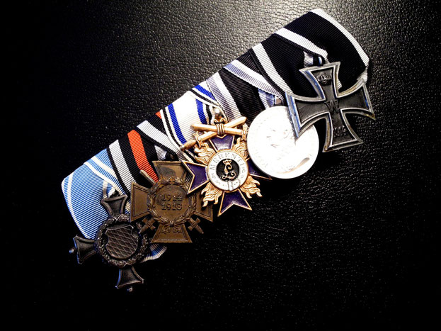 Bayern Ordensspange Frackspange Eisernes Kreuz Militärverdienstkreuz 1914 WWI Replik