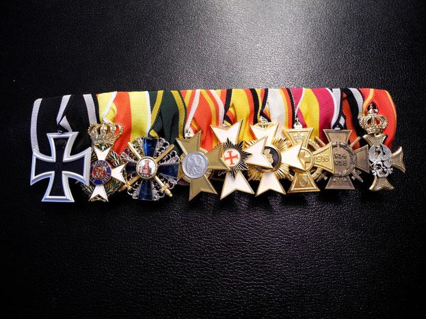 Baden Große Ordensspange Eisernes Kreuz Militär-Carl-Friedrich-Verdienstorden Orden vom Mähringer Löwen Hausorden Reuss Waldeck Replik