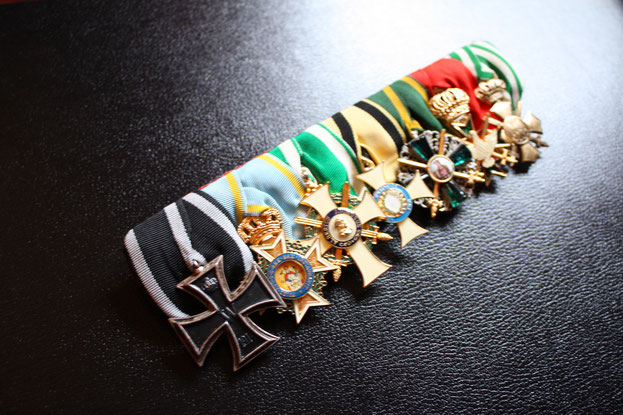 Sachsen Große Ordensspange Ordensschnalle Replik WWI Erster Weltkrieg