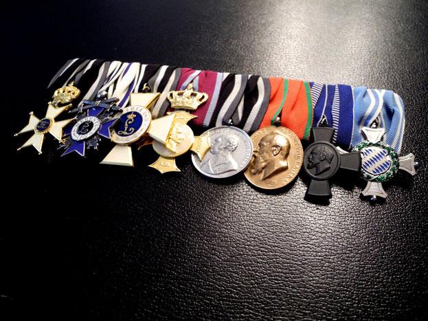 Bayern Große Ordensspange Bandschnalle Militär-Max-Josephs-Orden Militärverdienstkreuz Ludwigsorden Replik