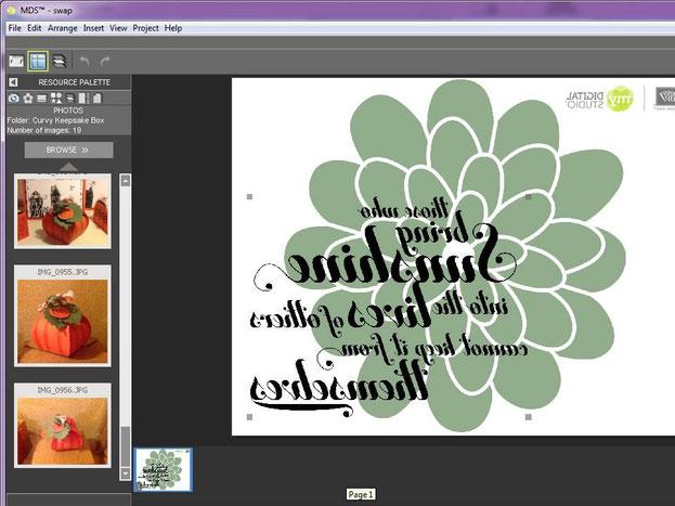 Das ganze per MDS designen! Bei einem Schrift Stempel müsst ihr aber UNBEDINGT Spiegelverkert drehen!