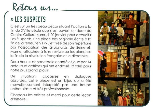 Les Susppects article magazine SAINT-SOUPPLETS Infos n°176 du 14 février 2018