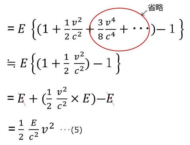 級数展開を省略して計算