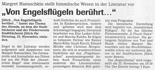 Jülicher Nachrichten vom 24.11.2003