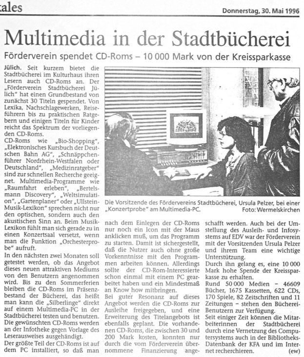 Jülicher Zeitung vom 30.05.1996
