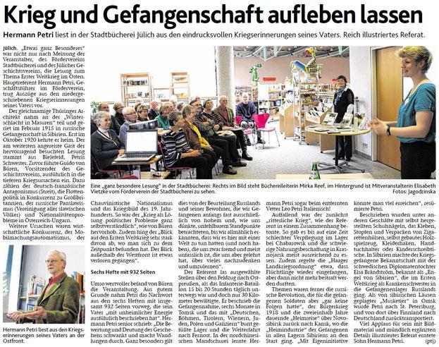 Mi, 4. Feb. 2015 Jülicher Nachrichten / Lokales / Seite 14