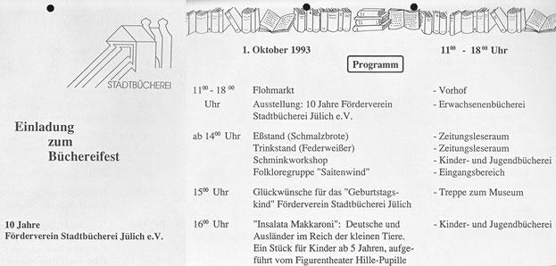 Büchereifest 1. Oktober 1993