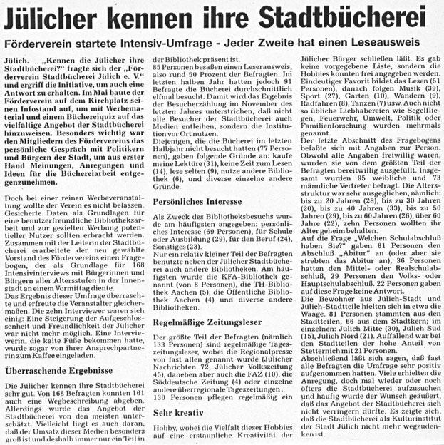 Jülicher Nachrichten vom 27.08.1994