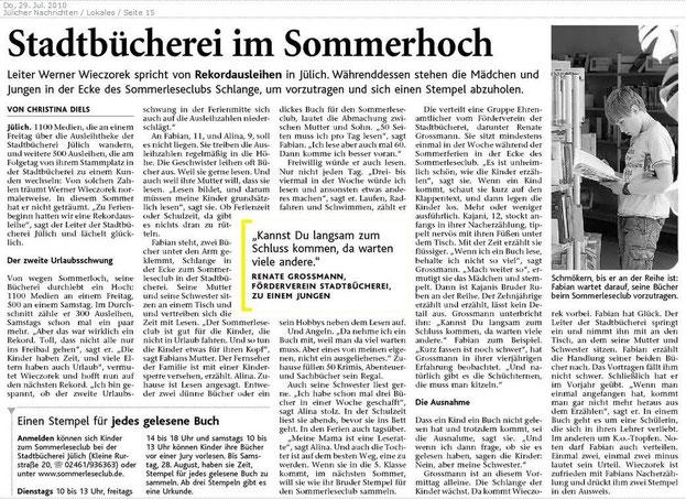 Jülicher Nachrichten vom 29.97.2010