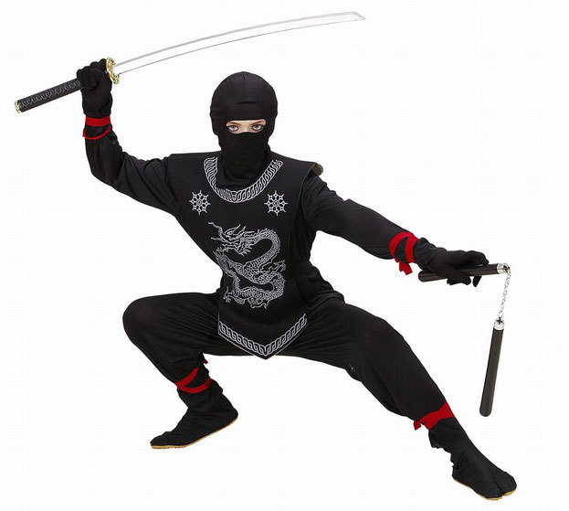 carnevale, widmann, costume per bambini ninja nero, ninja, costume carnevale ninja, vestito nero ninja, vestito di carnevale widmann, costumi carnevale 2018,