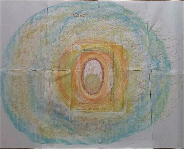 塗り絵アートセラピーお客様の作品 枠線を超えて