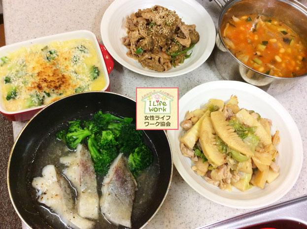 大阪兵庫で家事代行サービスで食事作り家政婦夕食作りでタラの煮付け
