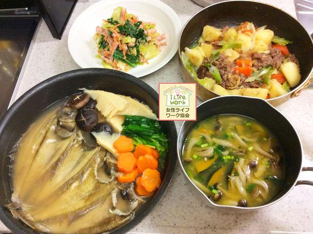大阪兵庫で家事代行サービスで食事作り家政婦夕食作りでカレイの煮付け
