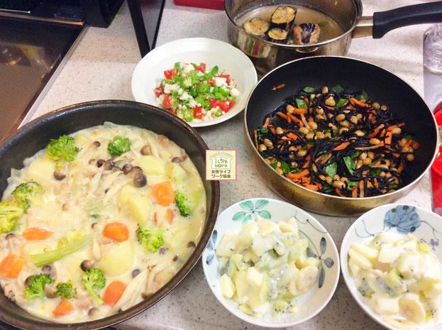 大阪兵庫で家事代行サービスで食事作り家政婦夕食作りで自家製クリームシチュー