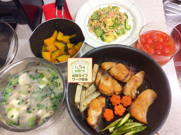 大阪兵庫で家事代行サービスで食事作り家政婦夕食作りでブリの照り焼き
