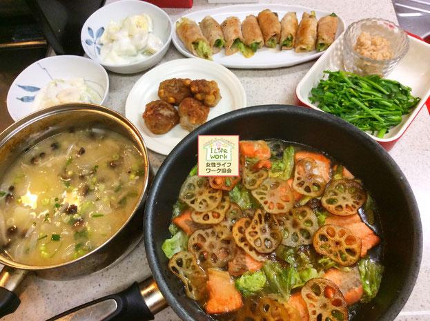 大阪兵庫で家事代行サービスで食事作り家政婦夕食作りで鮭の有効利用料理