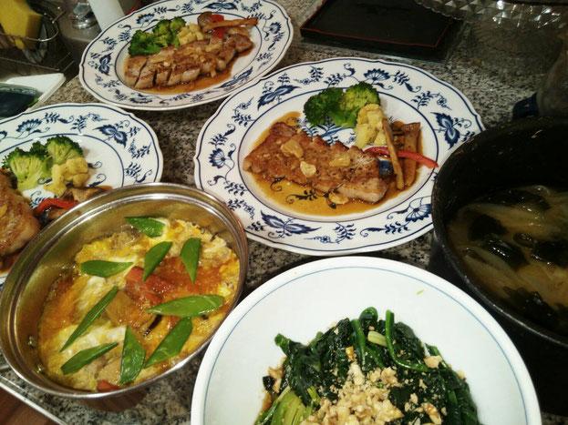大阪兵庫で家政婦・家事代行サービスで食事作り夕食は豚のガーリック焼き