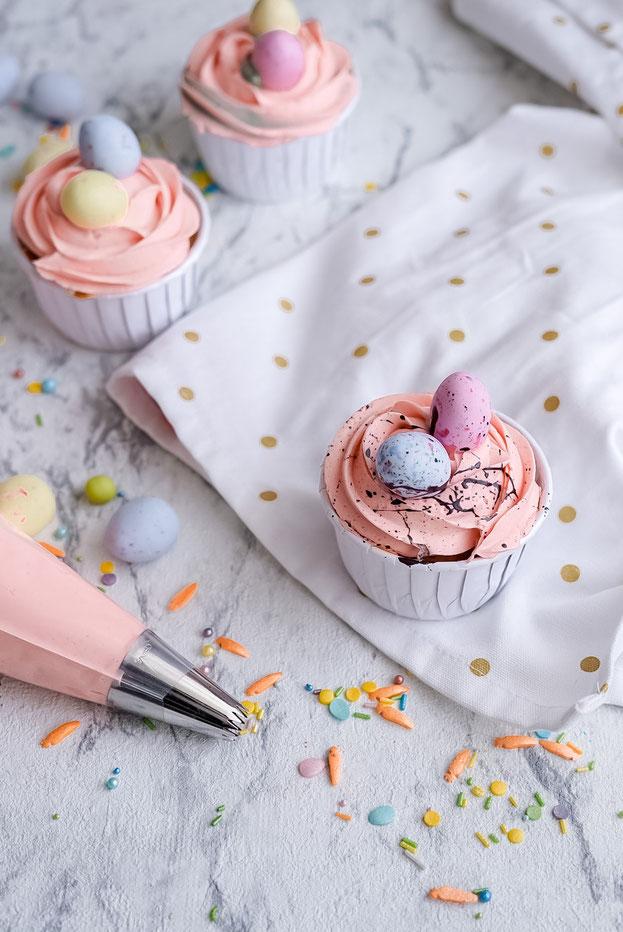 Österliche Cupcakes / Rübli - Cupcakes
