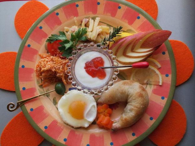 ワンプレートの朝食