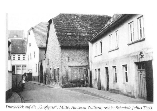 1950,  Alte Schmiede und das Theise Gäßchen