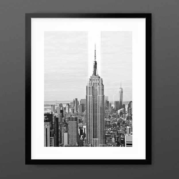 Black and White Art Print 'Empire State Reflection' by PASiNGA