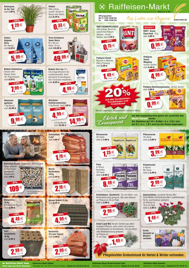 Ganzseitige Anzeige und DIN A1 Plakat der neuen Werbung des Raiffeisen-Markt.