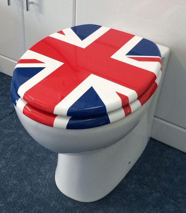 union jack flag toilet seat cover.