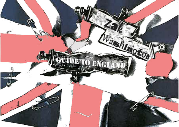 graphic with a torn up and dirty union jack flag - punk style