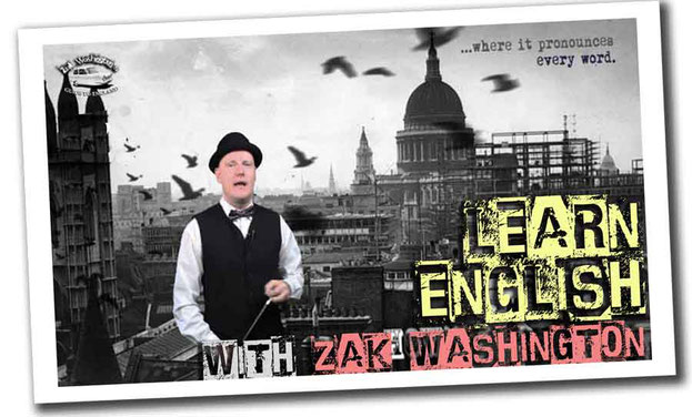 Learn English with Zak Washington graphic logo - socks and sandals