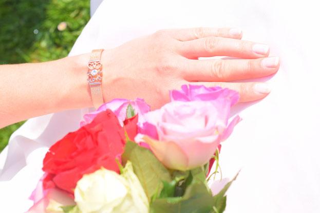 Schmuck von Purelei zur Hochzeit für Braut und Trauzeuginnen.