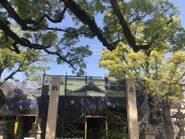 皇大神社 第2期工事 大屋根改修 御大典記念事業