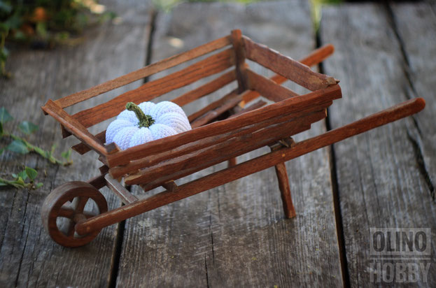 wooden decorative whelbarrow
