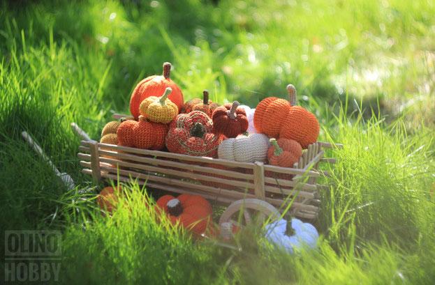crochet pumpkin, knitted pumpkin
