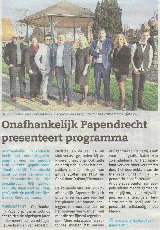 Papendrechts Nieuwsblad 21 februari 2018
