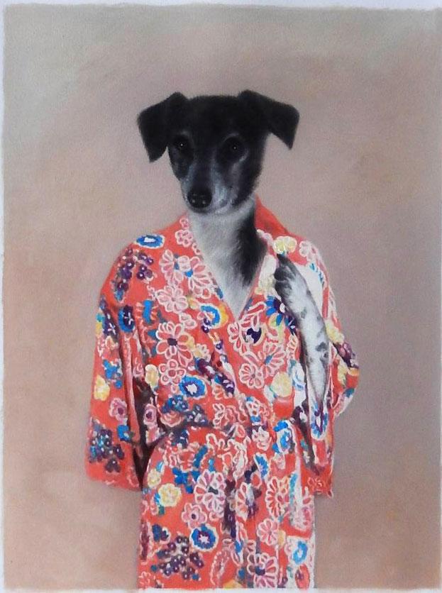 portrait-peinture-chien-Thierry-poncelet-personnalise