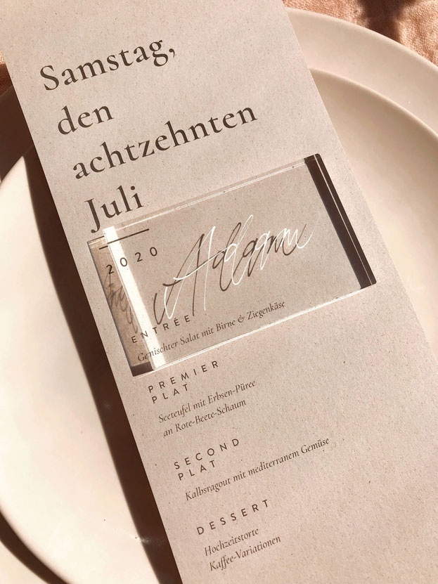 Tischkärtchen von studio vanhart – Perlmuttscheiben – www.studiovanhart.de