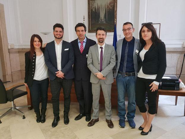 Ilaria Picciloni, Carlo De Girolamo, Michele Cattani, Michele Dell'Orco, Cristian Cavina e Silvia Piccinini