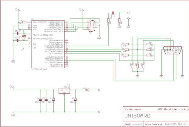 Schaltplan zum Universalboard