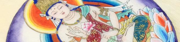 写仏に色を塗る仏画教室