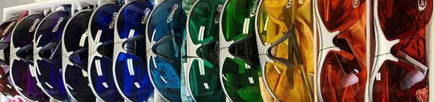 色光を目に入れるカラーサングラス12色