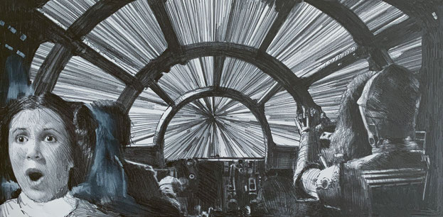 Jumping to Light Speed! (Robert Bailey, Pencil Drawing)