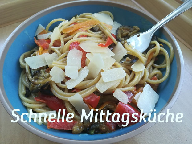 Spaghetti schnell gesund gepimpt