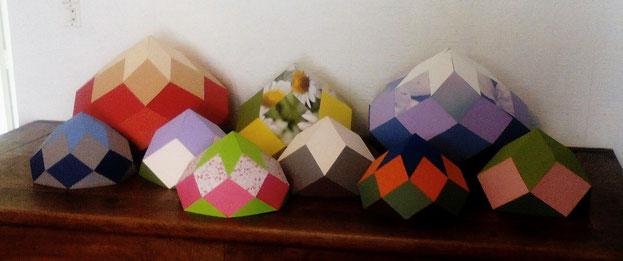 Zômes 5, 6, 7 et 8 en papier - Fabrication Aurigae