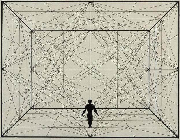 Oskar Schlemmer: Figur Raumlineatur 1924
