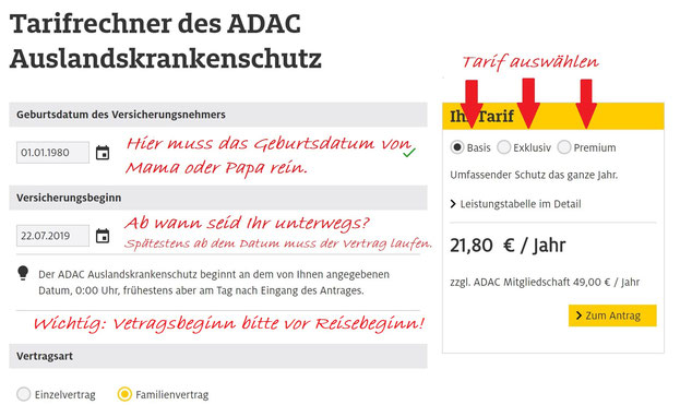 So einfach könnt Ihr Euren ADAC Auslandskrankenschutz beantragen.
