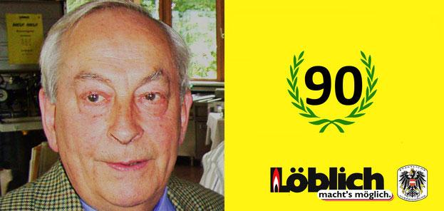 Grund zum Feiern: Geburtstagsglückwunsch an unseren Seniorgesellschafter (Geschäftsführer 1970-1998) Ing.Max W.Löblich