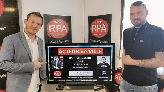 """Jean-Batiste Jalabert (Juan Bautista) invité de BAptiste Guerri dans l'émission """"Acteur de Ville"""" sur la radio Arlésienne RPA"""