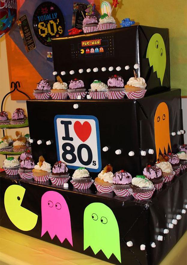 decoración fiesta de los 80s