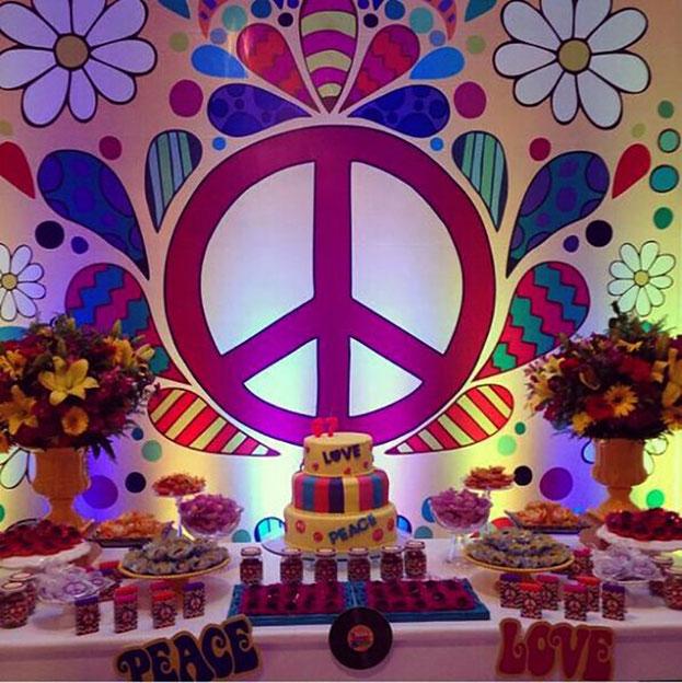 decoracion fiesta de los 60s